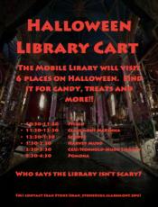 halloween cart poster