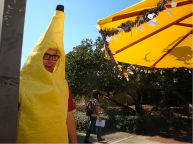 sean in banana costume