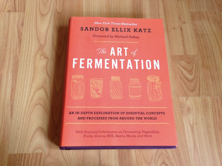 photo pf sandor katz' book the art of fermentation