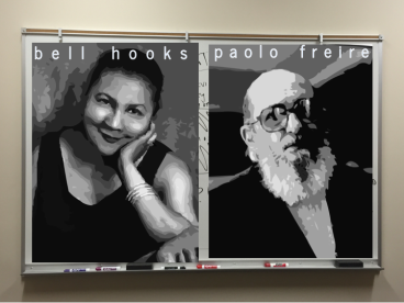 images of bell hooks and paolo freire