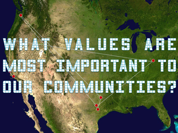 "image of slide reading ""what values are most important to our communities?"""